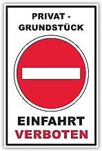 SCHILDER HIMMEL anpassbares Einfahrt verboten Schild 29x21cm