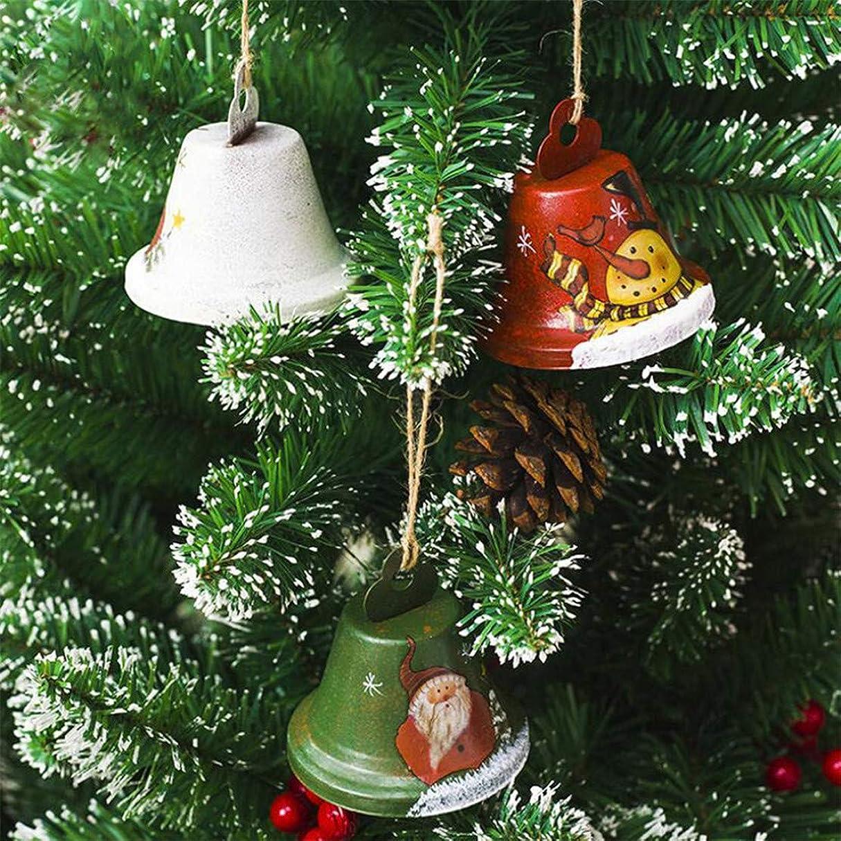 ペレグリネーション一族ブラストKXYSLY クリスマスツリーの飾り クリスマス オーナメント 老人ペンダント ミニクリスマスベルクリスマスの鐘木の装飾小さなヴィンテージぶら下げペンダント クリスマスのドアと窓の装飾 (緑色)