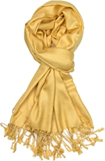 c18e79521 Achillea Soft Silky Solid Pashmina Shawl Wrap Scarf for Wedding Bridesmaid  Dress
