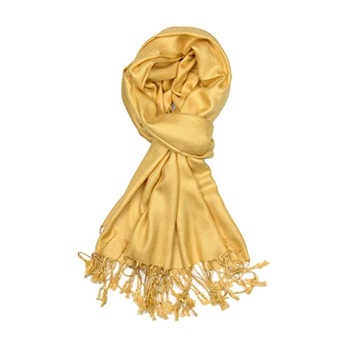 b8fb01d0b Achillea Large Soft Silky Pashmina Shawl Wrap Scarf in Solid Colors
