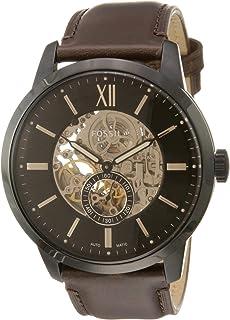 ساعة يد فوسيل تاونزمان للرجال- انالوج كوارتز بسوار جلدي ومينا بني- Me3155 -