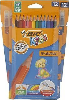أقلام تلوين شمعية 12 قلم + أقلام تلوين خشبية 12 قلم من بيك 943689.0