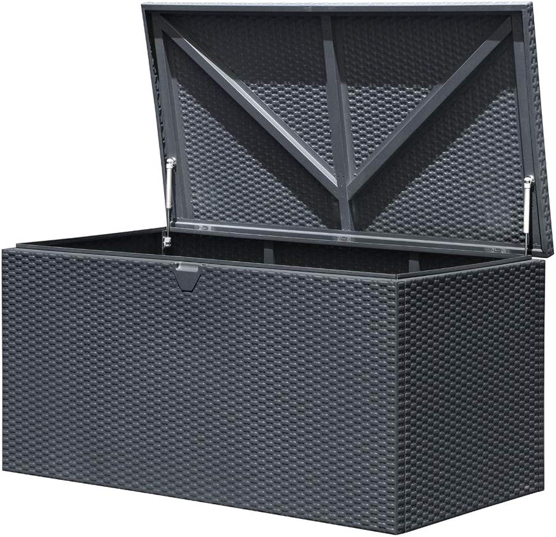 ShelterLogic XXL Kissenbox Gartenbox Gartentruhe Anthrazit 509l Volumen    132x70x67 cm (LxBxH)    Auflagenbox & Multifunktionsbox