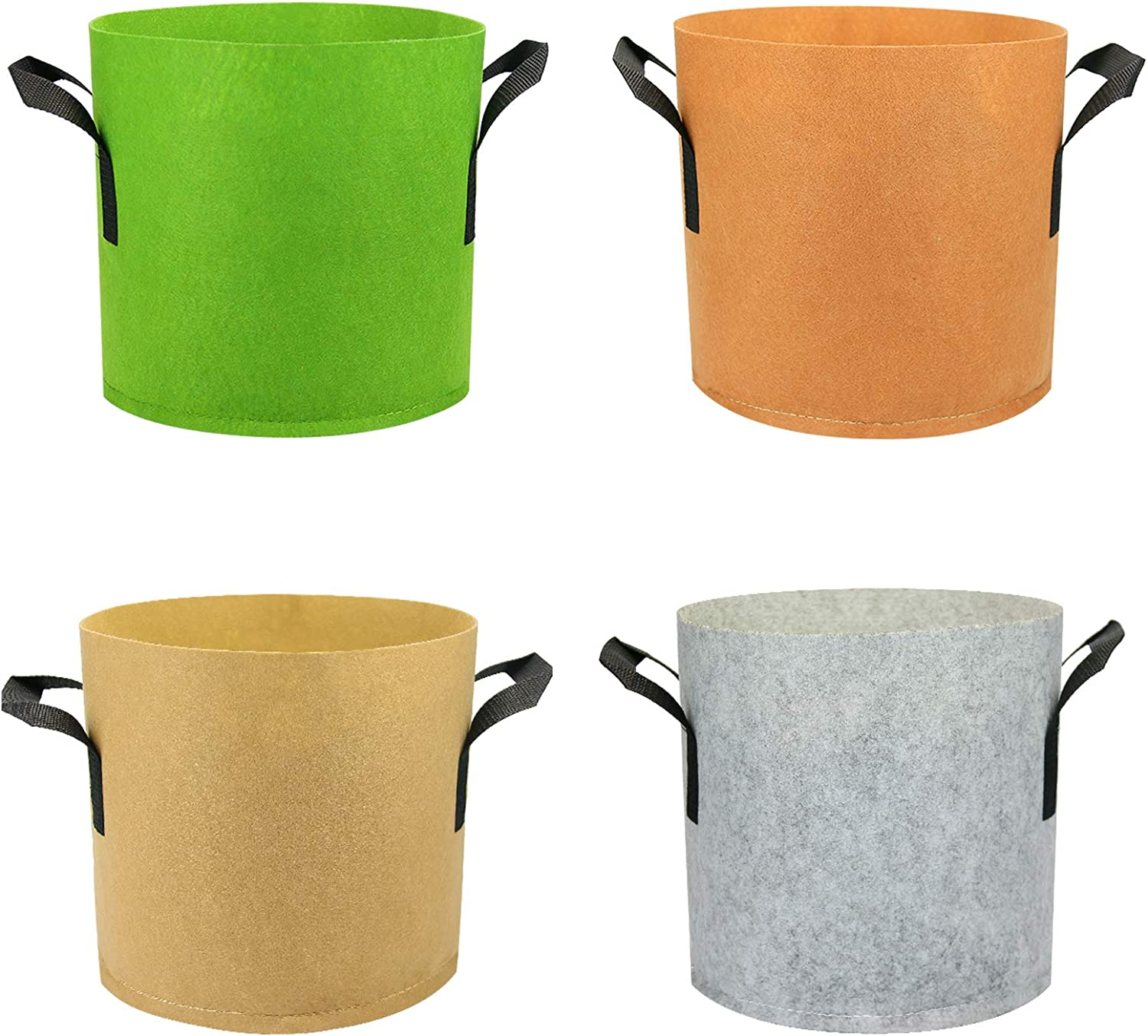 INNOLITES Grow Bags 4 Pack Colorful 5 Thickened 3 Mix 4 years warranty Branded goods Plant
