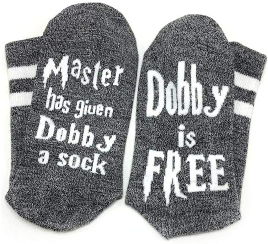 Dobby 4 price years warranty Socks SweetGo Is Free Knitted Combed C Words Unisex