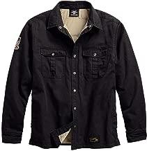 HARLEY-DAVIDSON Men's #1 Genuine Classics Shirt Jacket, Black