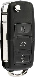 KeylessOption Keyless Entry Remote Control Car Flip Key Fob Replacement for HLO1J0959753AM, HLO1J0959753DC