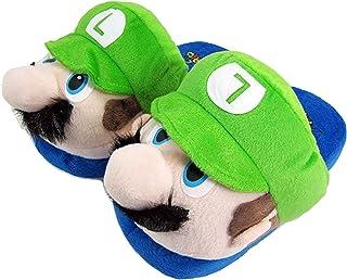 Super Mario & Luigi Peluche Scarpe da casa - Coccole calde per la casa - Divertenti pantofole per adulti e bambini - Tagli...