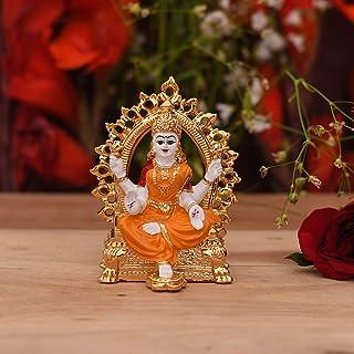 CraftVatika Gold Plated Lakshmi Laxmi Idol Statue Showpiece for car Dashboard Home puja Decoration and Gifting Figurine Of...