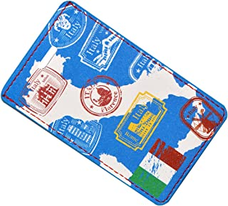 Go Green Power TR1276 Design Leather Luggage Tag - Map of Italy