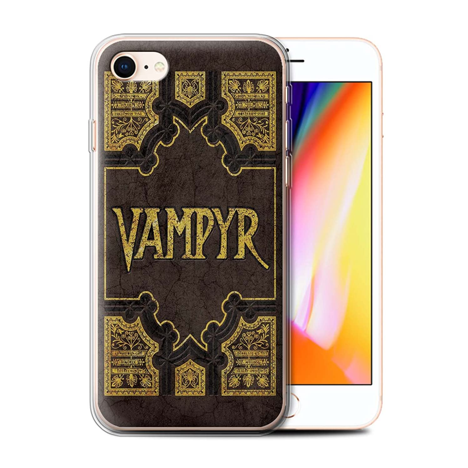 STUFF4 Gel TPU Phone Case/Cover for Apple iPhone 8 / Vampyr Book Design/Vampire Slayer Collection