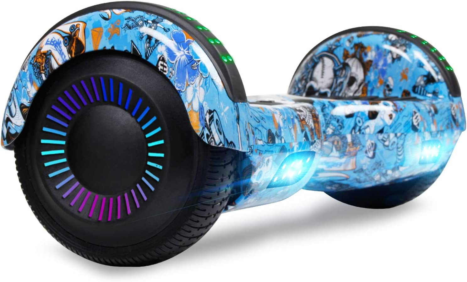 CBD Hoverboard with Bluetooth and Colorful LED Max 45% OFF 6.5 Lights inches Department store