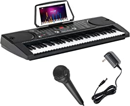 LAGRIMA Electric Piano Keyboard, 61 key Music Keyboard Piano, Portable Electronic Musical..