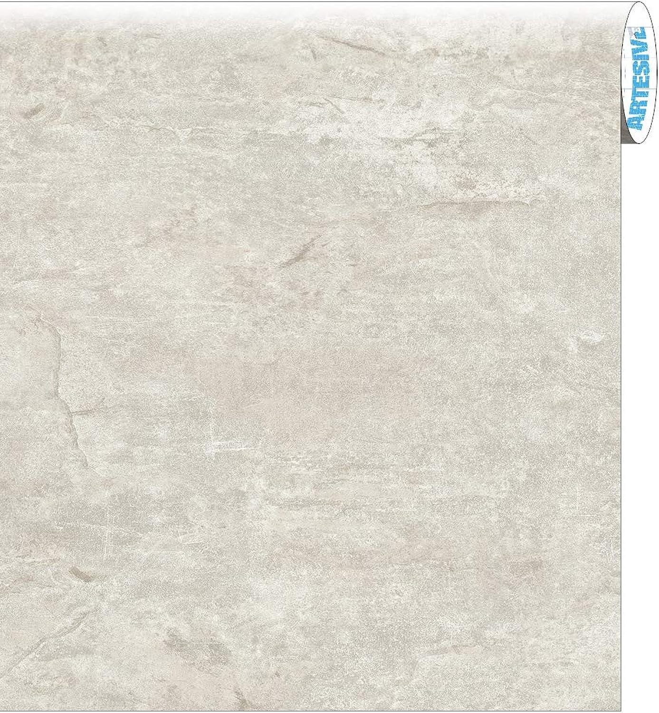 ARTESIVE ST-013 Klarer Zement Rolle 30 cm x 10 mt. Stein Effekt Klebefilm B07KNQCL97     | Perfekt In Verarbeitung