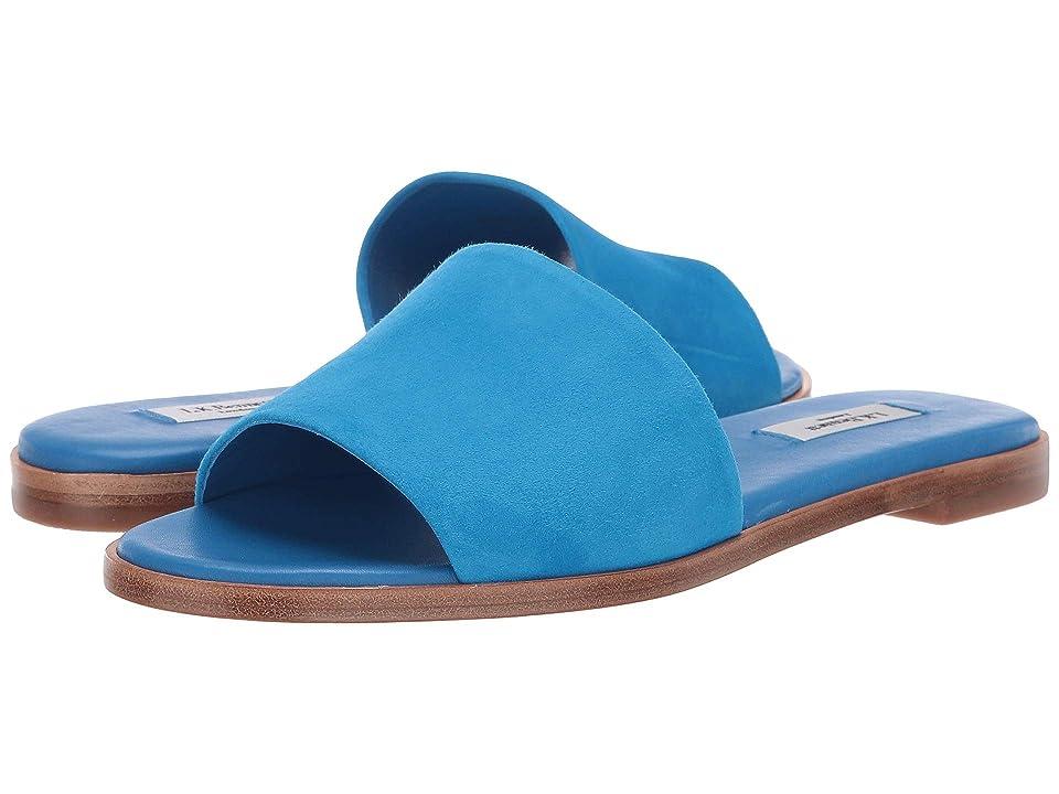 L.K. Bennett Reena Flat Slider (Mediterranean Blue) Women