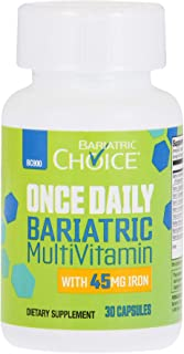 Bariatric Choice ONCE DAILY Bariatric Multivitamin Capsule with 45 mg of Iron (30 Count), Bariatric Vitamin...