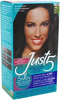 Just 5 Women's Hair Color, Black, J-30 (6 Pack)