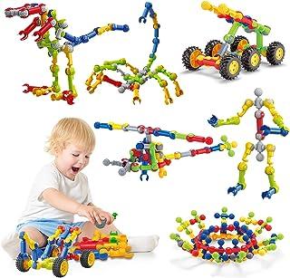 Caferria Kids Building Kit STEM Toys, 110 Pcs Educational Construction Engineering Building Blocks DIY Learning Set for Ag...
