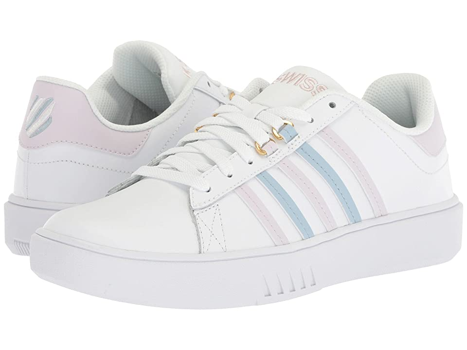 K-Swiss Pershing Court CMF (White/Gray Lilac/Celestial Blue) Women