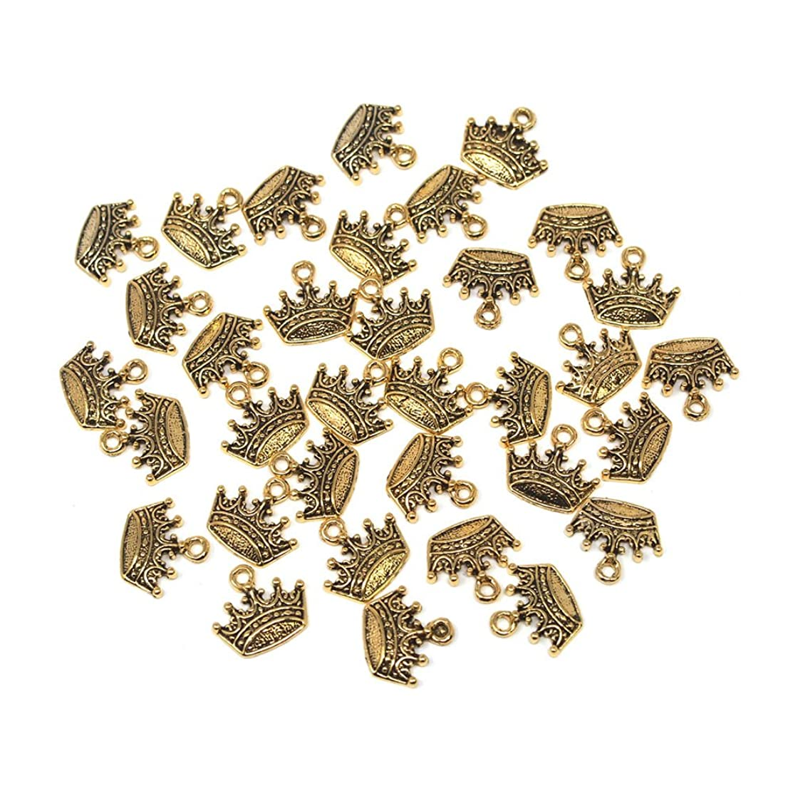 Homeford Small Crown Metal Charms, 3/4-Inch, 36-Count (Gold)