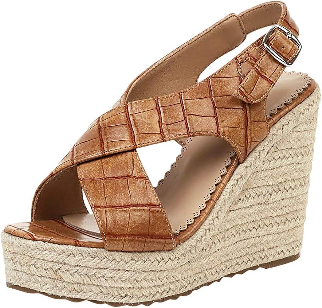 Simayixx Discount is also underway Sale SALE% OFF Women's Wedge Sandals Ankle Open Summe Buckle Toe Strap