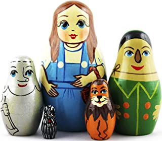 MATRYOSHKA & HANDICRAFT Wizard of Oz Nesting Dolls 5 Piezas ? Wizard of Oz Decorations ? Wizard of Oz Toys Gifts