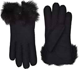Long Pile Bow Water Resistant Sheepskin Gloves