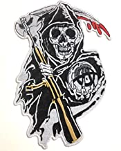 Grim Reaper Motorcycle Biker Style Jacket Big Large Patches Clothing MC Vest Jackets Backpacks Quality Made Nice Designs Patch Collection MC Bikers Designs (01)