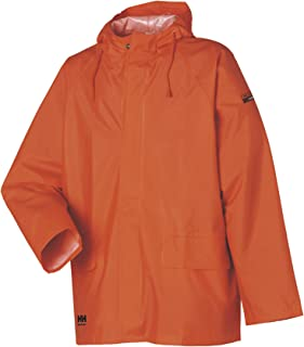 Helly Hansen Workwear Men's Mandal Durable Waterproof Hooded Rain Coat Jacket for Hunting and Fishing