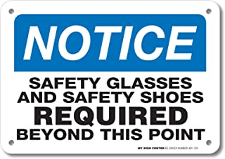 Best notice safety glasses required sign Reviews