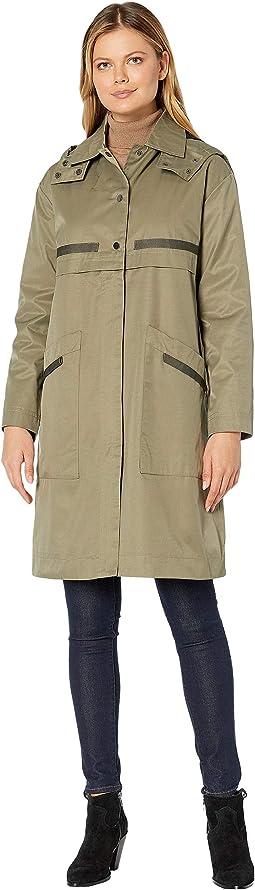 Long Hooded Raincoat
