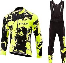 Heren Fietskleding Pak Winter Thermische Fleece Sportkleding Set Winddicht Jack Van Jersey Met Lange Mouwen+19D Gewatteerd...