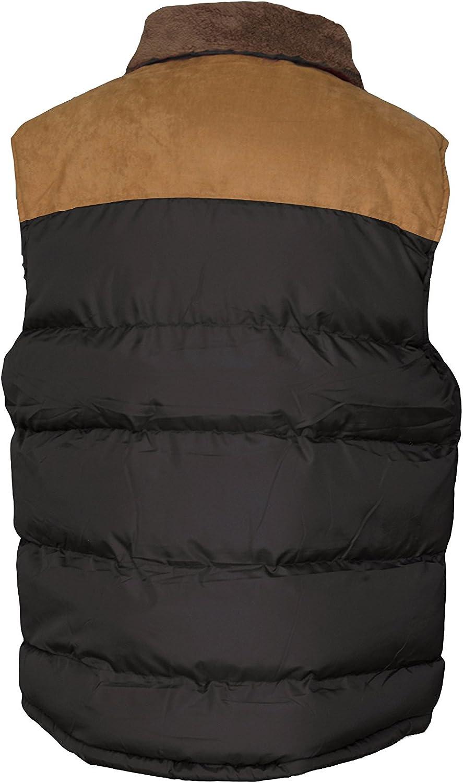 Original Deluxe Men's Polyester Padded Vest with Corduroy Shoulder