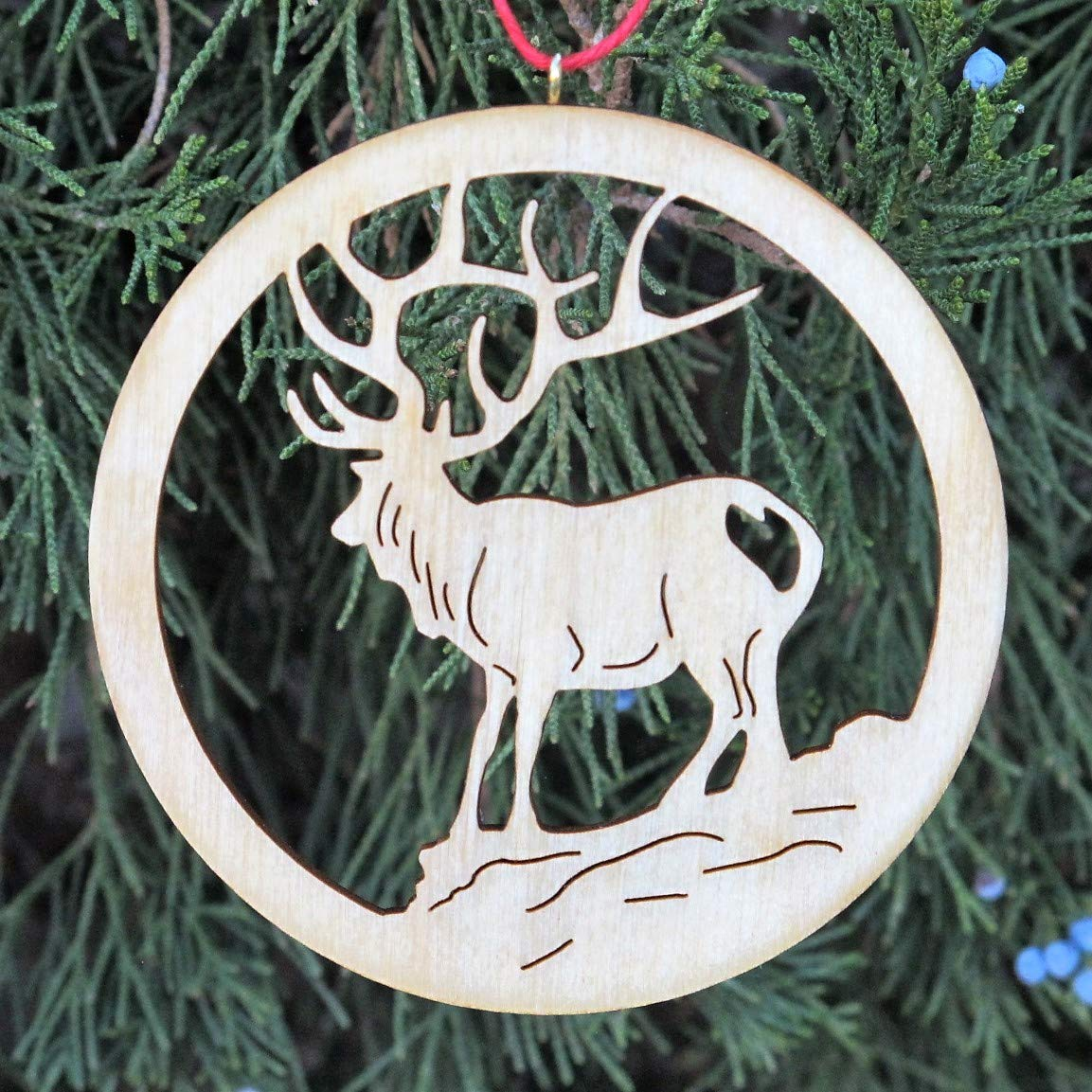 Sales results No. Austin Mall 1 Set of 5 Rocky Mountain Themed Ornaments Wooden Christmas handma