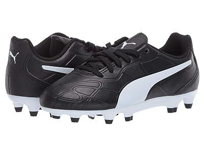 Puma Kids Monarch FG Soccer (Little Kid/Big Kid) (Black/White) Kids Shoes