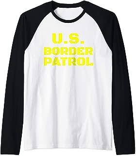 Halloween Border Patrol Immigration Enforcement Costumes Raglan Baseball Tee