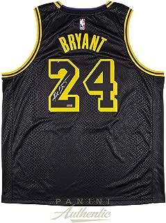 Kobe Bryant Autographed Los Angeles Lakers City Edition Black Swingman Jersey - PANINI