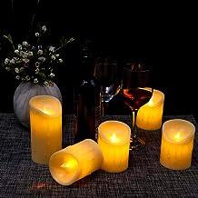 شموع LED بدون لهب من YATAI تعمل بالبطارية الشموع وامضة LED رومانسية واقعية مع تصميم الحافة المذابة شموع نذرية للمنزل عشاء ...