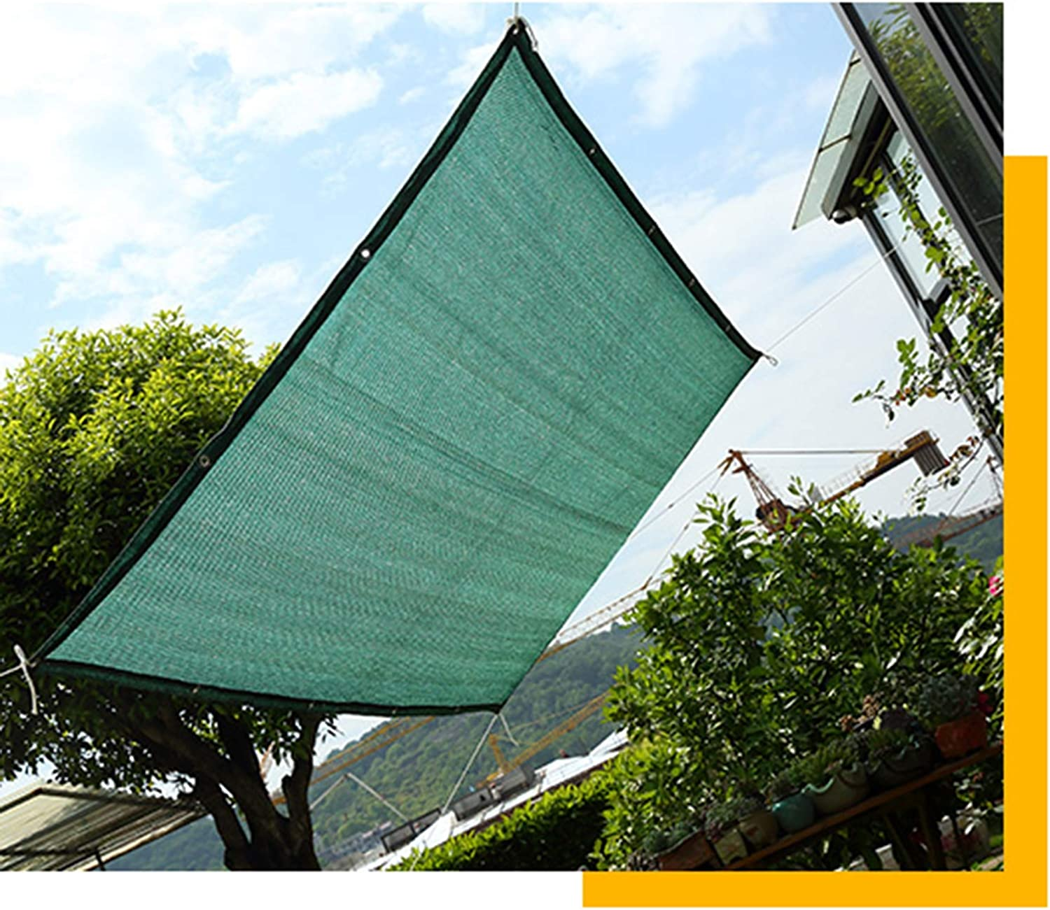 Home Sun Shade Cloth Fabric, Outdoor Sunblock UV Predection Shade Panel Net Cover, Taped Edge with Grommets SunBlock Mesh for Facility Activities Patio Backyard