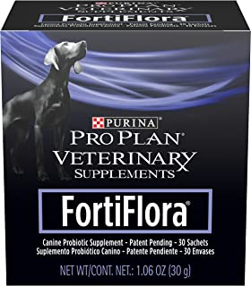 Purina FortiFlora Probiotics for Dogs, Pro Plan Veterinary Supplements Powder or Chewable Probiotic Dog Supplement