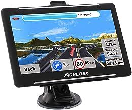 Aonerex GPS Navi Navigation für Auto LKW PKW KFZ 7 Zoll Navigationsgerät mit..