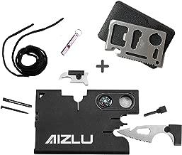 AIZLU Credit Card Pocket Emergency Knife Survival Camping 12 in 1 Multitool Black Tool