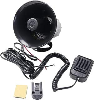 YHAAVALE 3 Tone Sound Car Siren Speaker,DV12V,50W Car Horn Vehicle Horn with Mic Loudspeaker Emergency Electronic PA System Police Siren