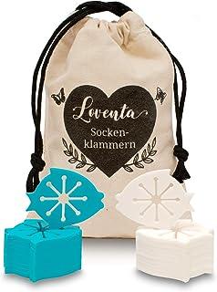 LOVENTA® Sockenklammern (20 Stück) für Waschmaschine und Trockner I Bester Halt I..