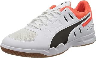 Puma Men's Auriz White Black-nrgy Red-Gum Badminton Shoes