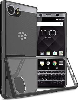 BlackBerry KEYone Case Cover, CoverON, Clear Back Panel, Black Bumper