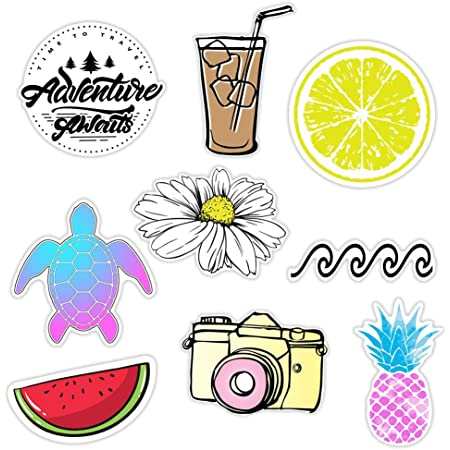 Amazon Com Kraft D Cute Beach Sticker Packs Great Accessories For Waterproof Water Bottle Stickers Laptop Hydro Flask Stickers Phones Ocean Flower Sea Designs Proudly Made In Huntington Beach California Computers Accessories