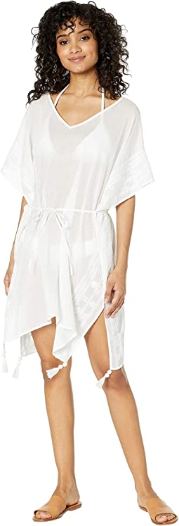 Shadow Embroidered Kaftan Cover-Up