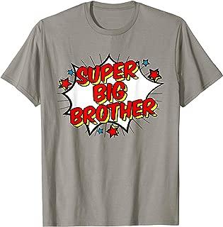 Superhero Super Big Brother Matching Sibling T-Shirts