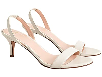 J.Crew Leather Simple Slingback Nan Sandal (Ivory) Women